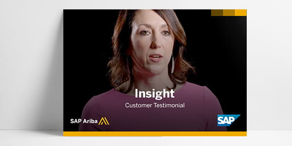 A customer testimonial video from SAP Ariba