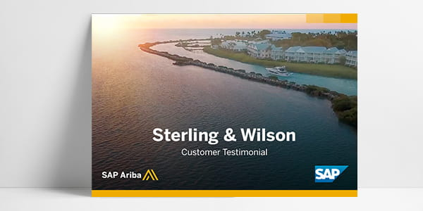 A customer testimonial video featuring SAP Ariba customer Sterling & Wilson