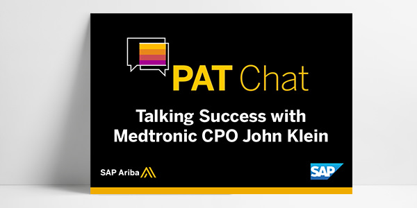 PAT Chat: Talking Success with Medtronic CPO John Klein
