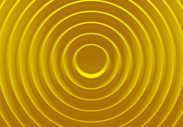 Yellow circular pattern