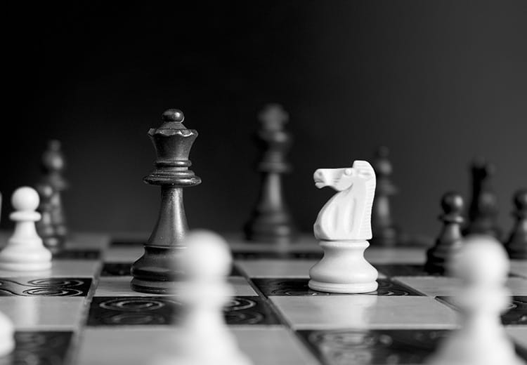 Chess with black and white pieces