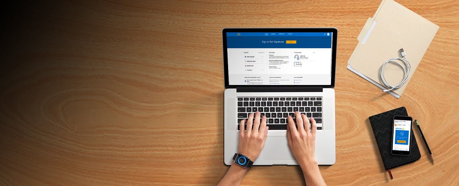 Banner image for SAP Signature Management by DocuSign electronic signature solution