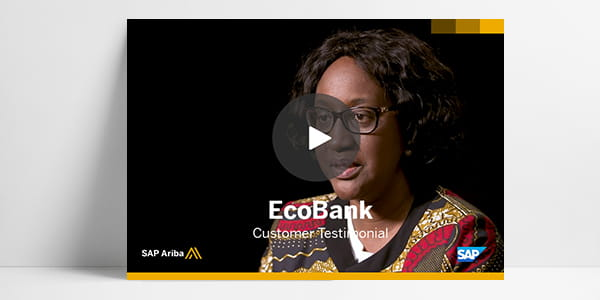 SAP Ariba customer EcoBank provides video testimonial