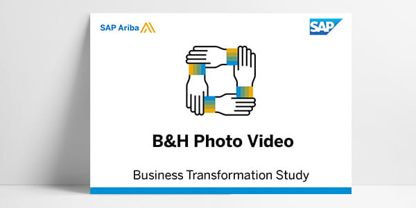 Resource library thumbnail for business transformation study about Ariba Network supplier B&H Photo Video