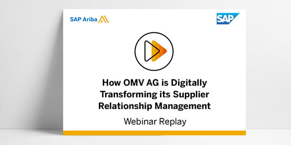 How Omv Ag Is Digitally Transforming Its Supplier Relationship